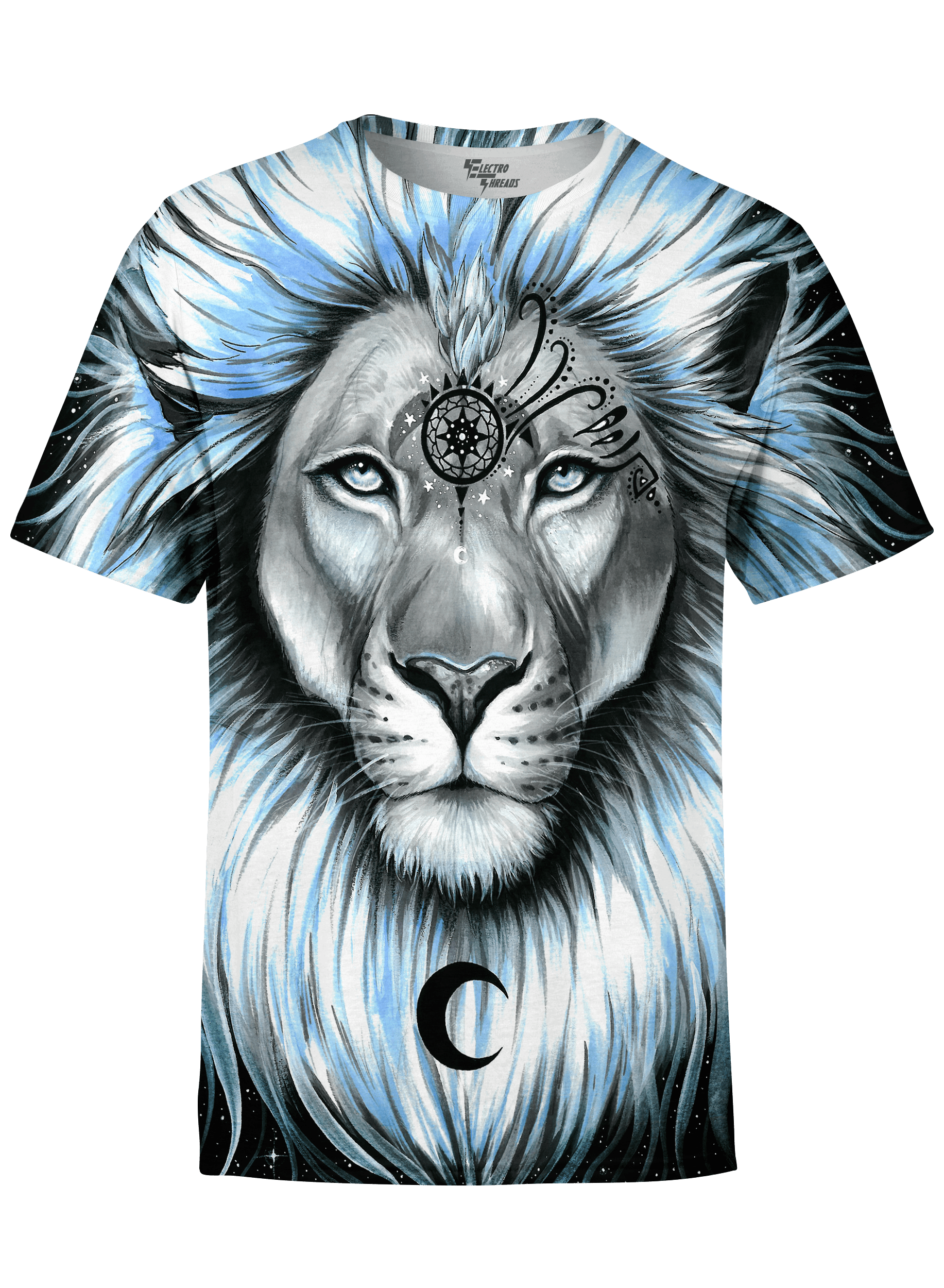 Lion Galaxy Unisex Crew T-Shirts T6