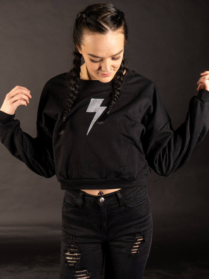 Lit Up Cropped Sweater Crop Sweater Electro Threads