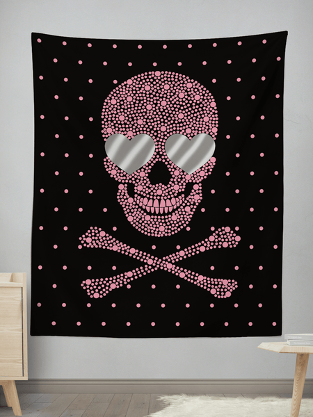 Live Happy Die Happy Wall Tapestry Tapestry Electro Threads