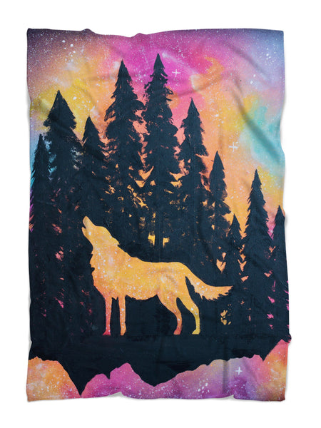 Lone Wolf Blanket Blanket Electro Threads