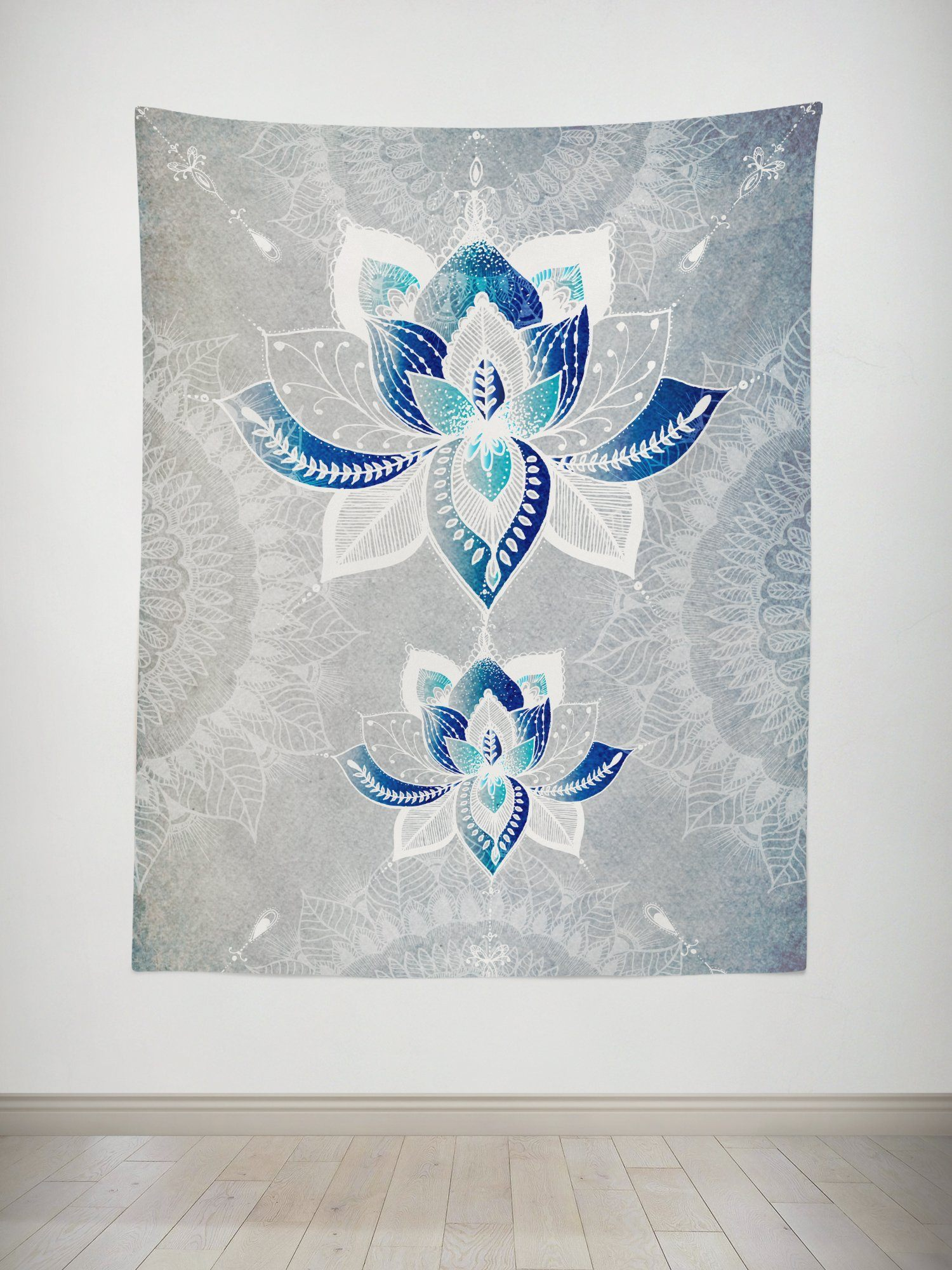Lotus Rebirth Tapestry Tapestry Electro Threads