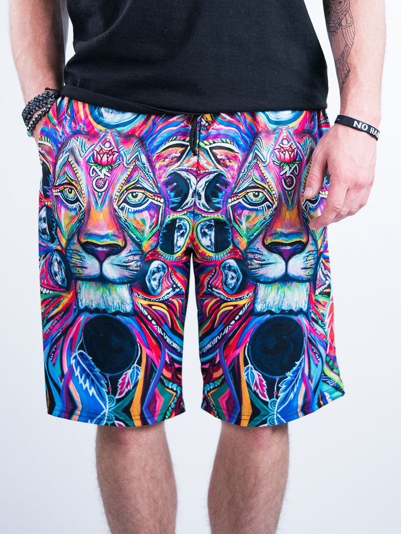 Lunar Lion Shorts Mens Shorts T6 28 - XS Red