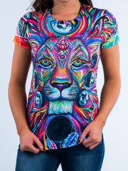 Lunar Lion Women's Crew T-Shirts T6