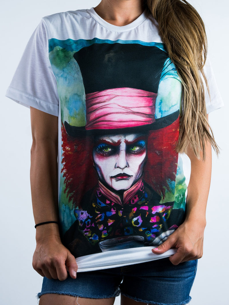 Mad Hatter Unisex Crew T-Shirts Electro Threads