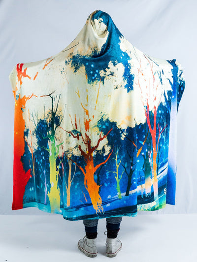 Magic Forest Hooded Blanket Hooded Blanket Electro Threads