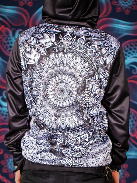 Mandala Bloom V2 Back Panel Unisex Hoodie Pullover Hoodies T6