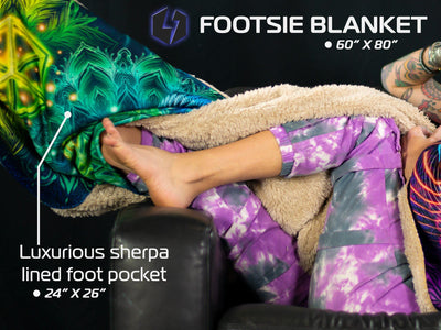 MANDALA BLOOM V2 FOOTSIE BLANKET Footed Blanket Electro Threads