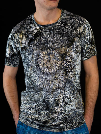 Mandala Bloom V2 Unisex Crew T-Shirts Electro Threads X-Small Crushed Velvet