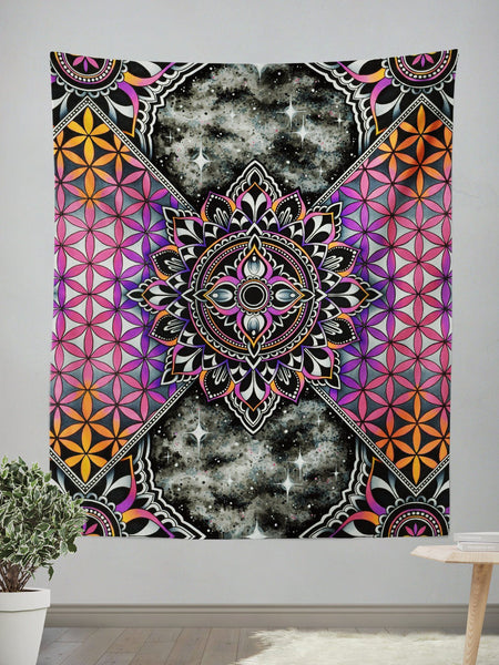 Mandala Magic Wall Tapestry Tapestry Electro Threads