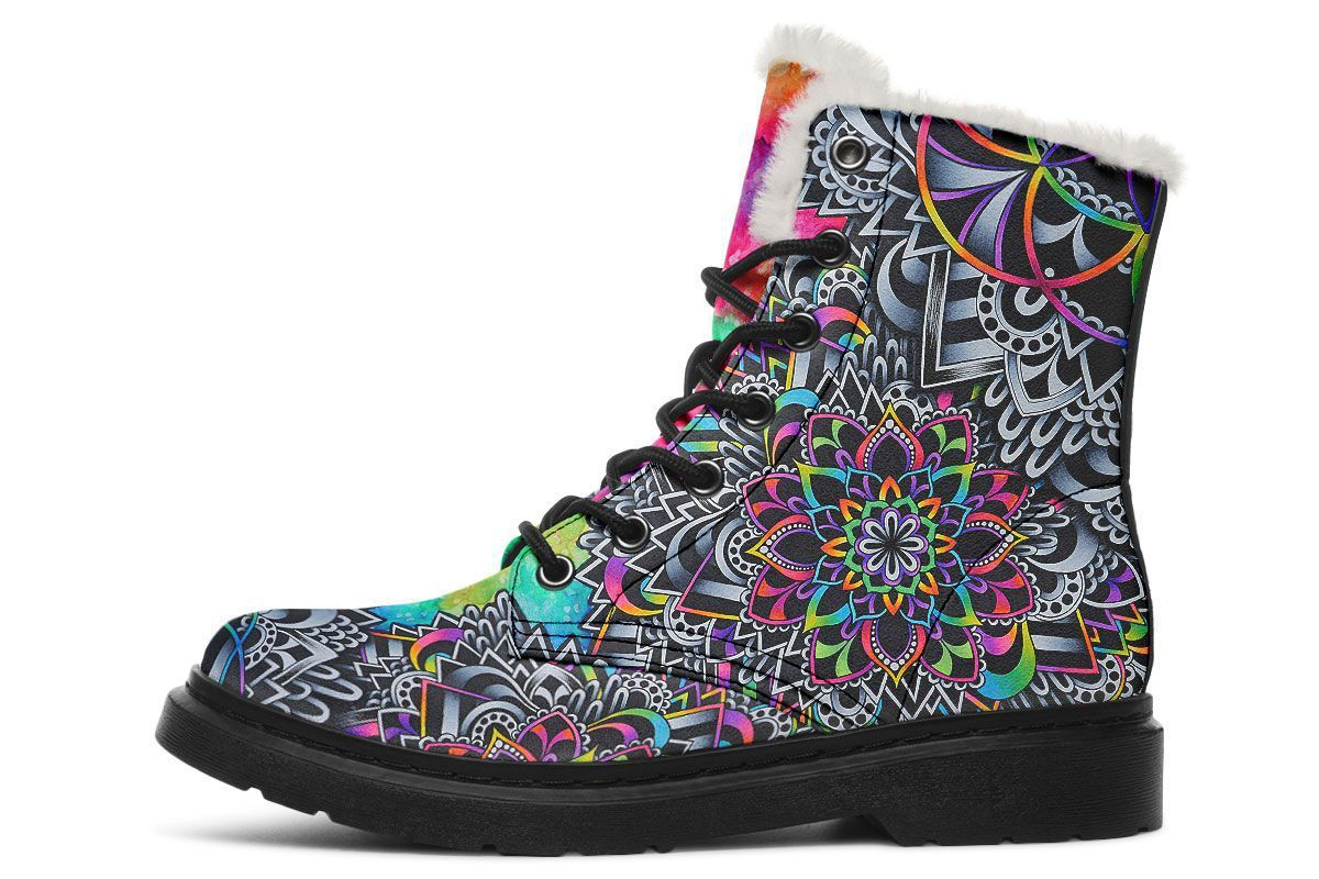 Mandala Vibes Winterboots YWF Women's Winter Boots Black Sole US 4.5 / EU35