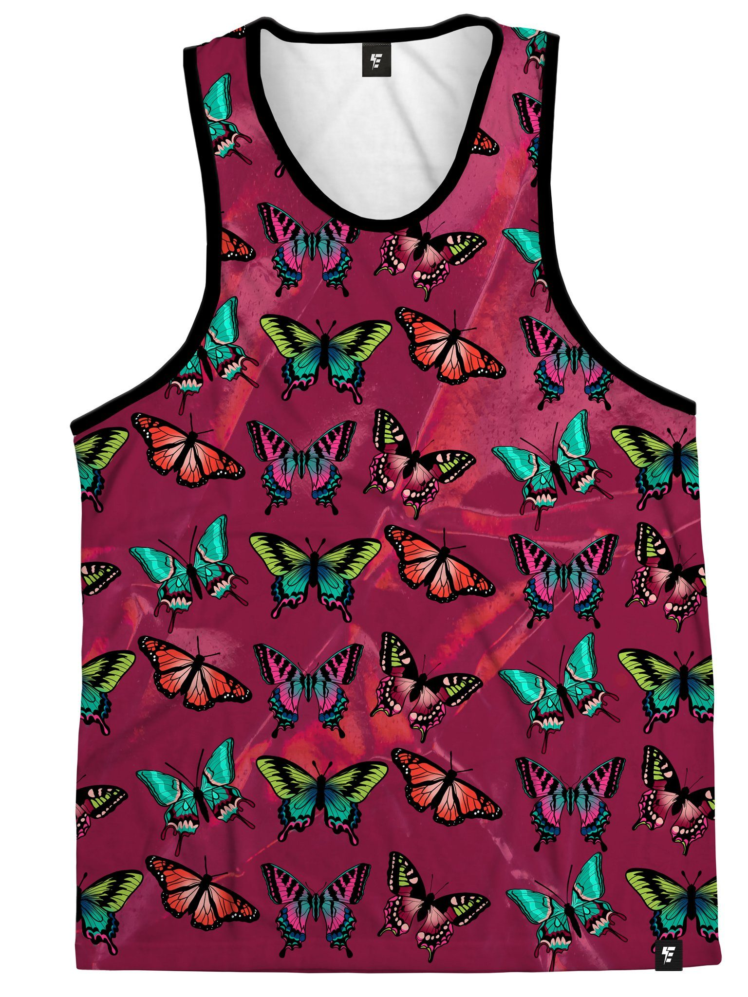 Maroon Butterfly Unisex Tank Tank Tops Electro Threads