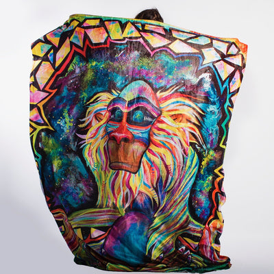 Meditating Rafiki Blanket Blanket Electro Threads
