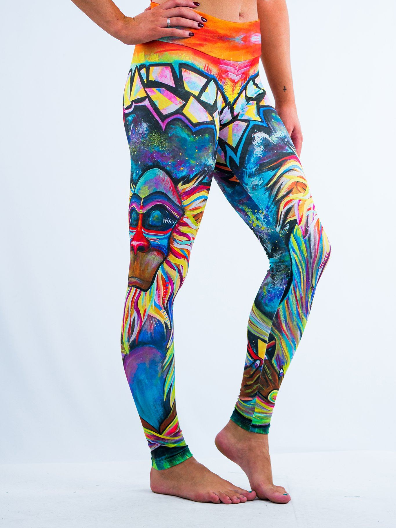 Meditating Rafiki Leggings Leggings T6 XS