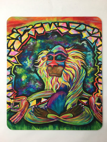 Meditating Rafiki Mouse Pad Accessories Electro Threads