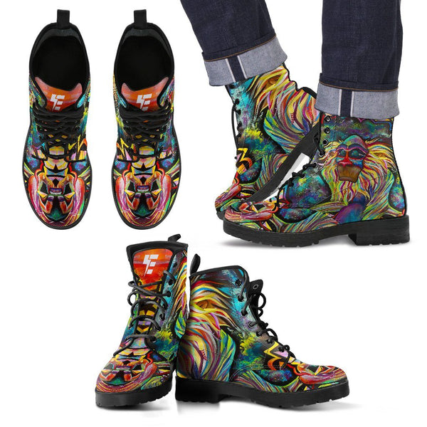 MEDITATING RAFIKI V1 Men's Leather Boots Leather Boots Electro Threads