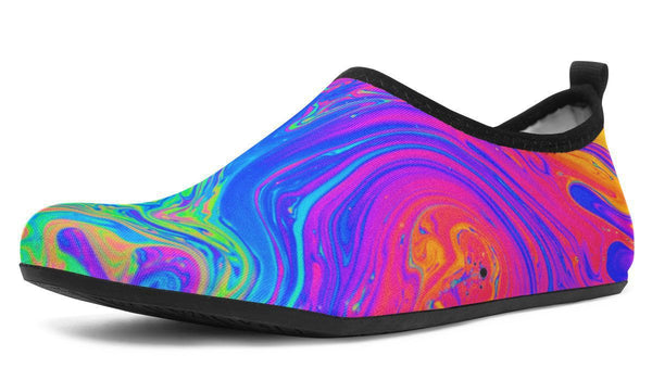 Melting Colors Aquabarefootshoes YWF Women's Aqua Barefoot Shoes Black Sole US 3-4 / EU34-45