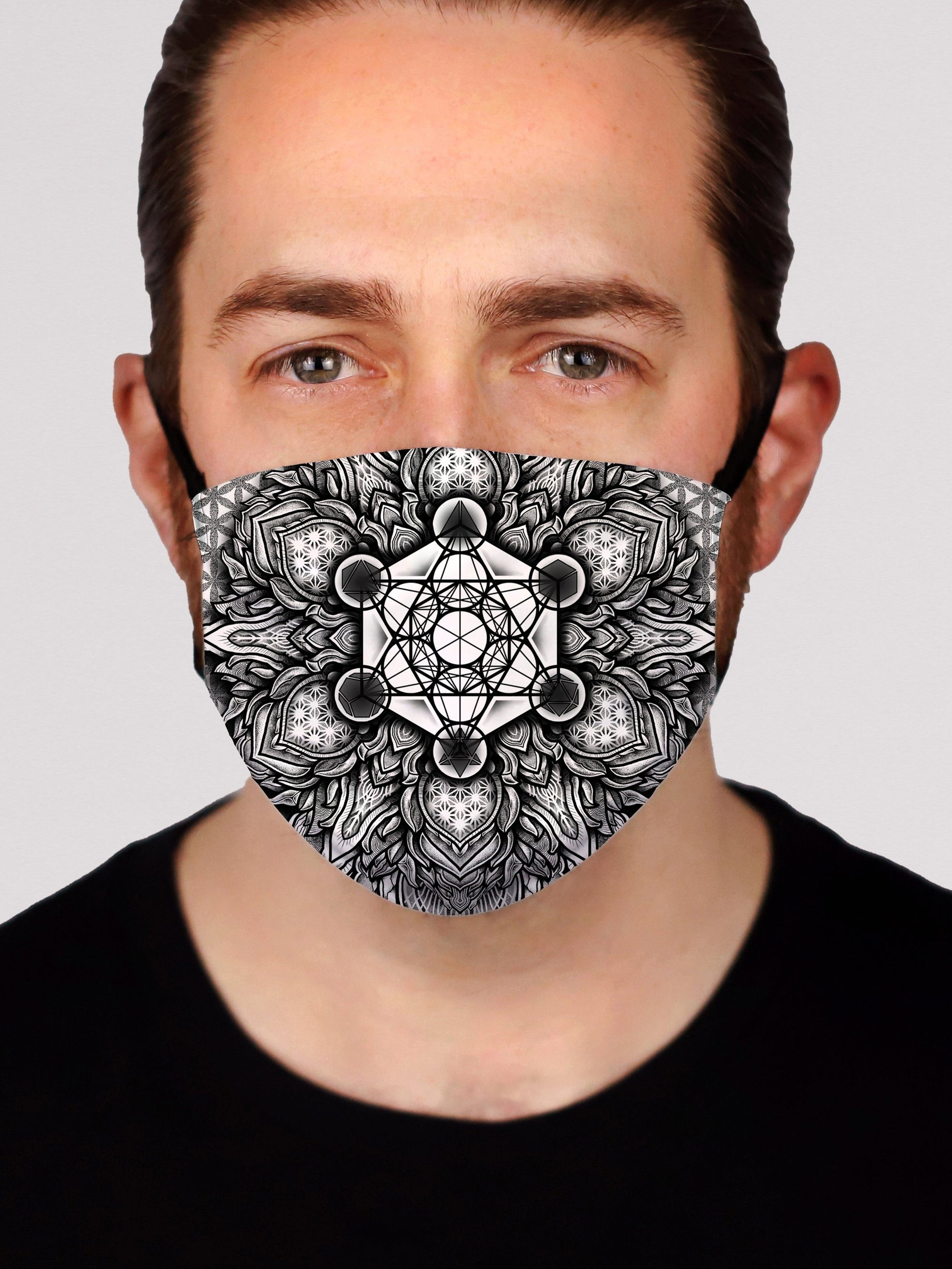 Metatron's Cube Face Mask Electro Threads