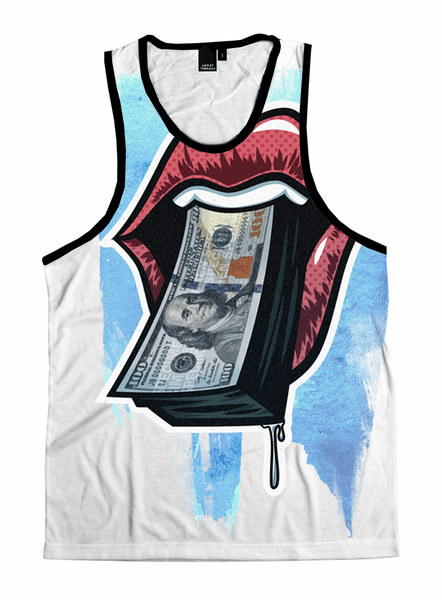 Money Maker Unisex Tank Top Tank Tops T6 X-Small White