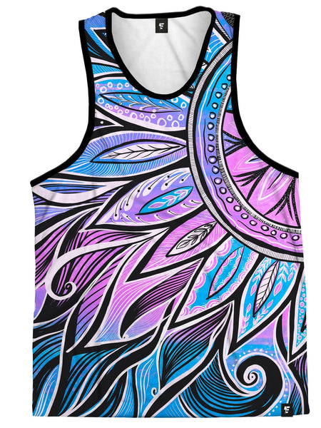 Moon/Sun-Ray Mandala Unisex Tank Top