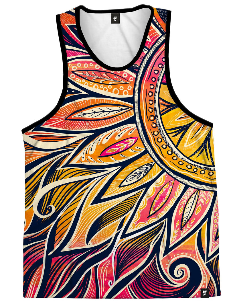 Moon-Ray Mandala Unisex Tank Top Tank Tops Electro Threads