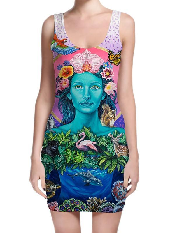 Mother Earth Mini Dress Dress T6