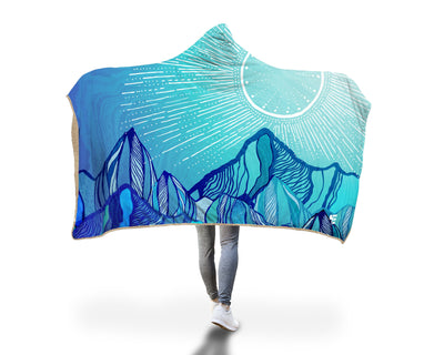 Mountain Mood Hooded Blanket Hooded Blanket Electro Threads