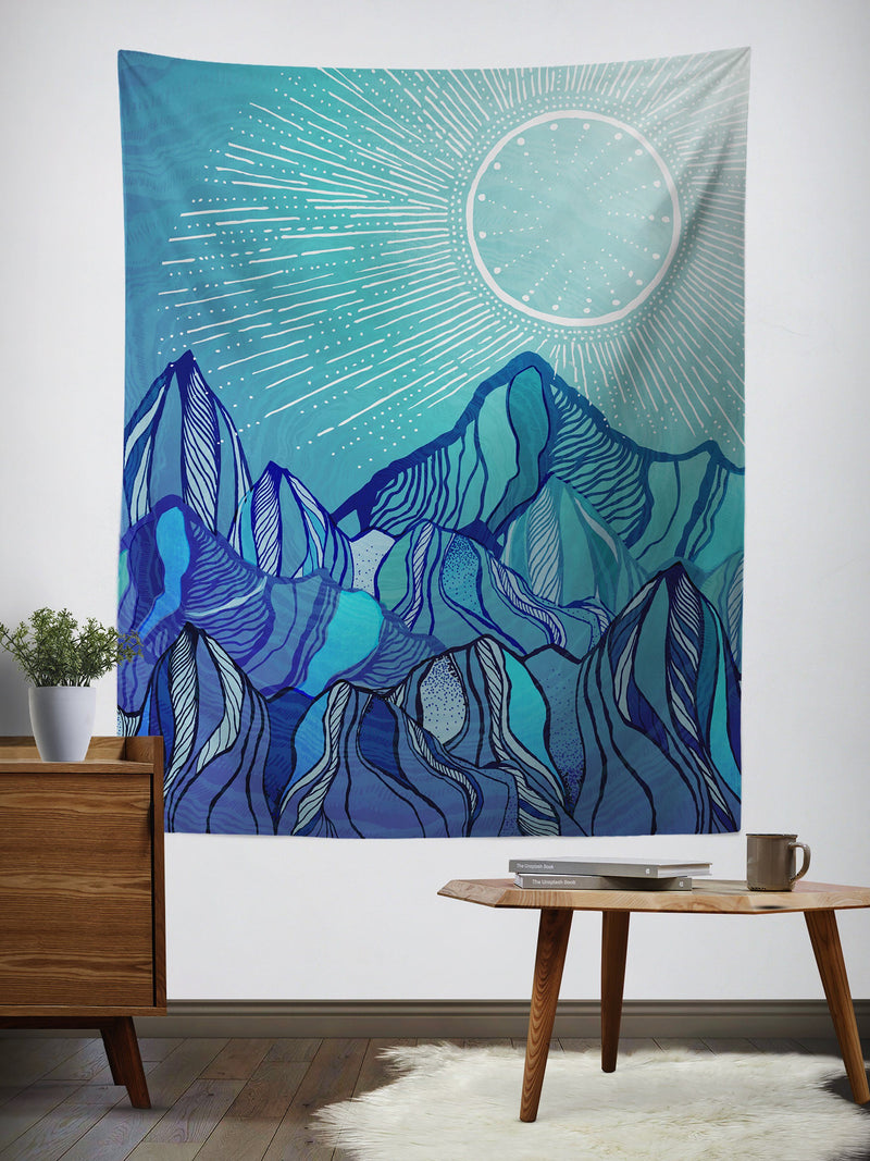 Mountain Mood Wall Tapestry Tapestry Electro Threads