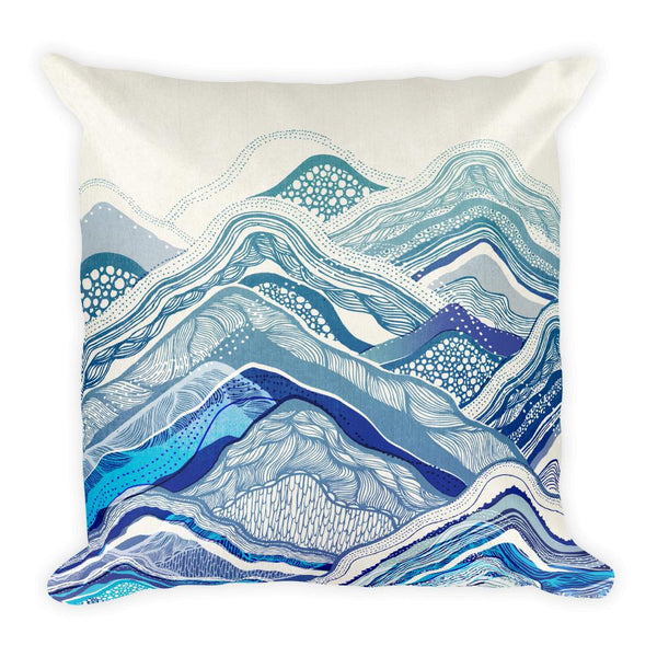 Mountain Vibes Square Pillow Throw Pillow Printful Default Title