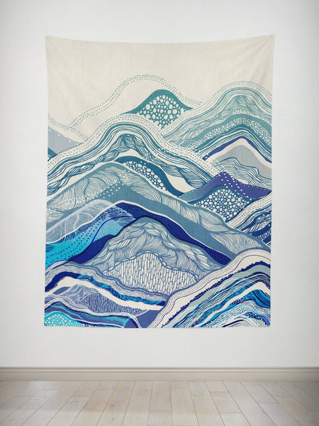 Mountain Vibes Tapestry Tapestry Electro Threads