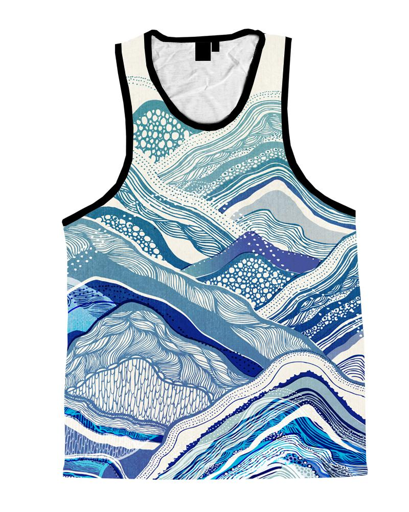 Mountain Vibes Unisex Tank Top Tank Tops T6