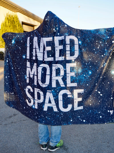 Need More Space Hooded Blanket Hooded Blanket Electro Threads