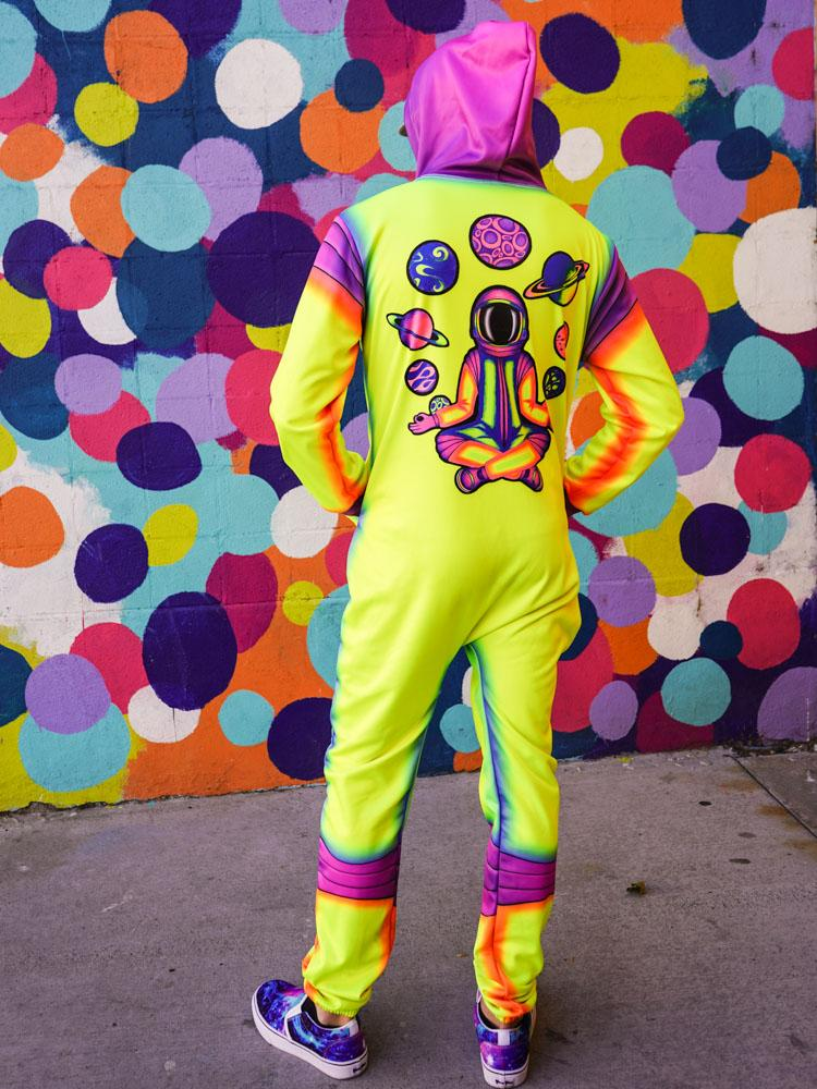 Neon Acidnaut Adult Onesie Onesie Electro Threads