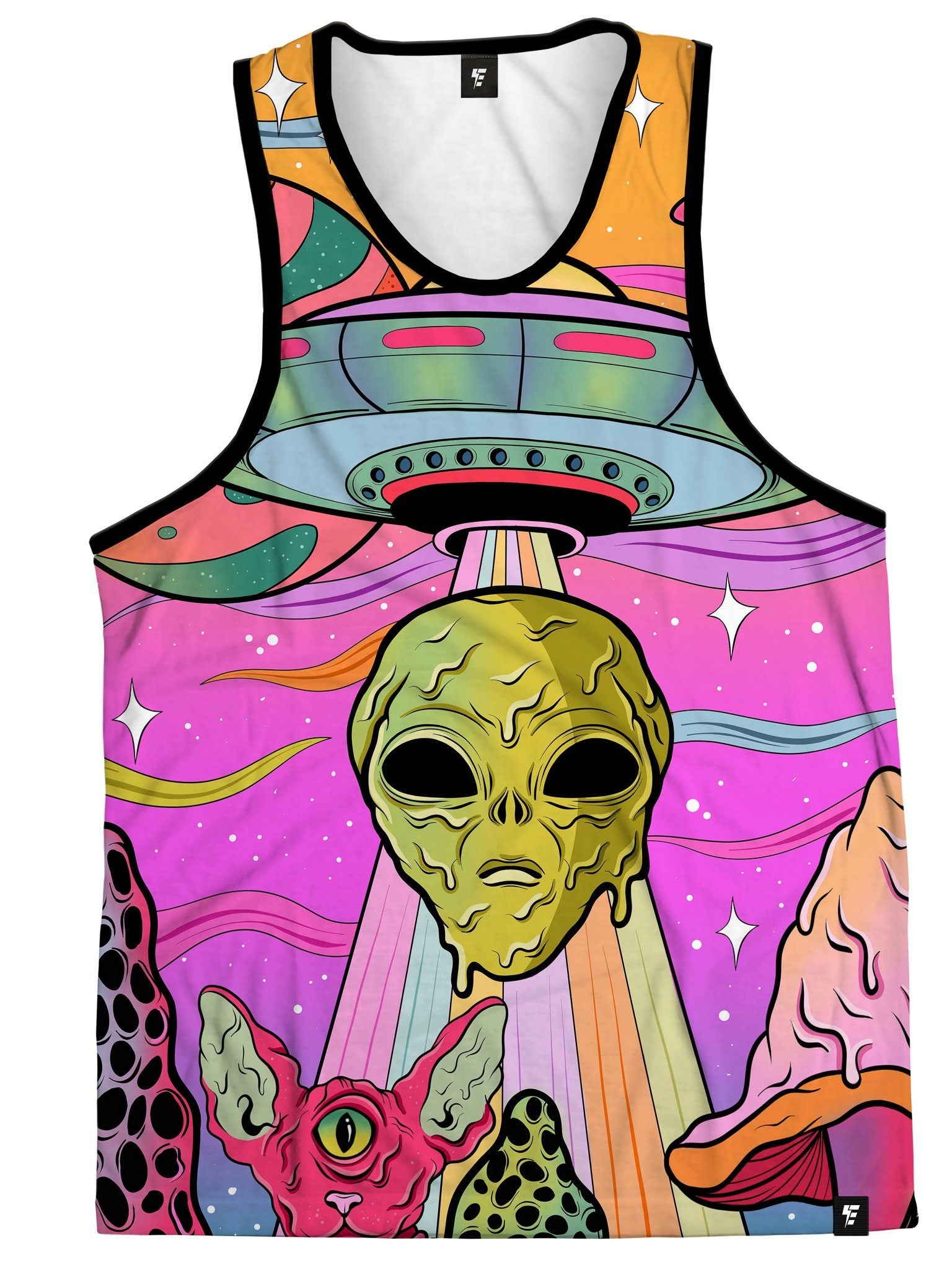Neon Alien Invasion (Sherbet) Unisex Tank Top Tank Tops Electro Threads