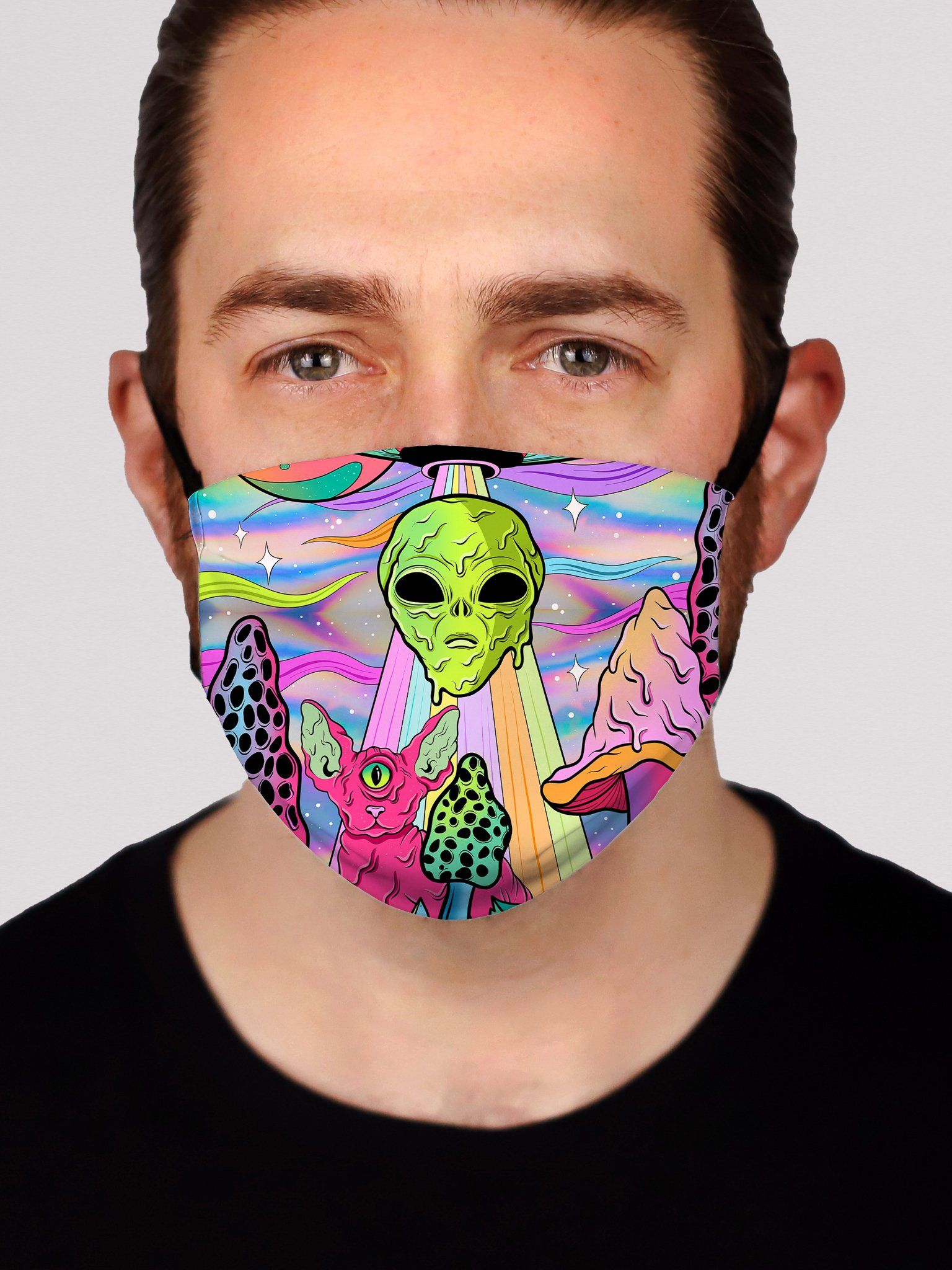 Neon Alien Invasion (Shimmer) Face Mask Face Masks Electro Threads