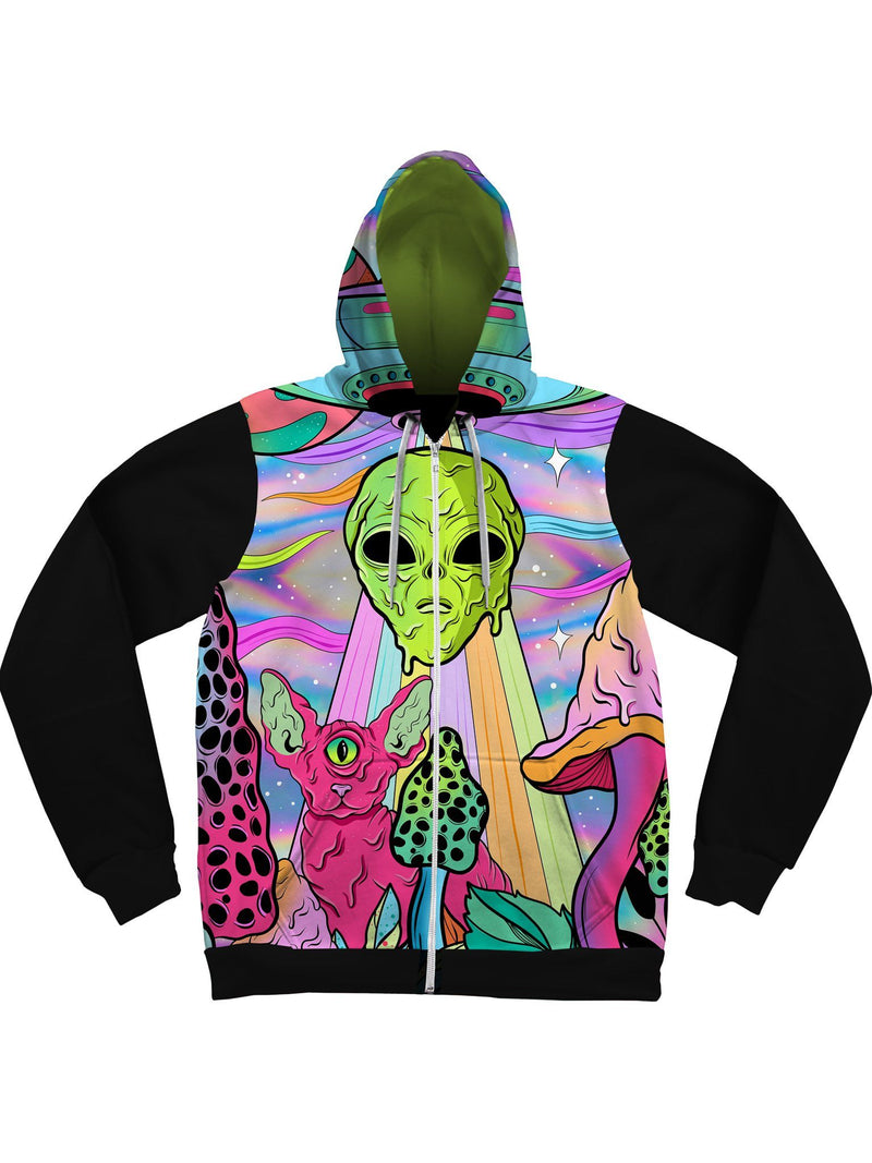 Neon Alien Invasion (Shimmer) Unisex Hoodie Pullover Hoodies Electro Threads XS Pullover Regular