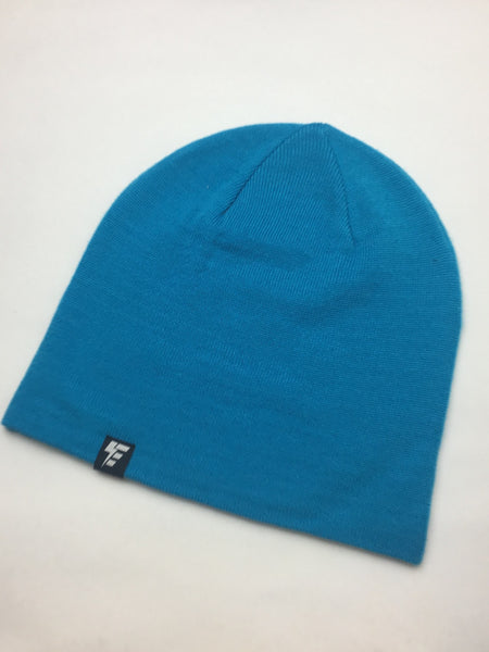Neon Blue Slouch Beanie Hat Electro Threads