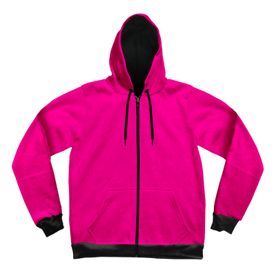 Neon Crushed Velvet Unisex Hoodie Pullover Hoodies Electro Threads XS Pink and Black