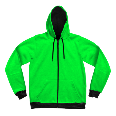 Neon Crushed Velvet Unisex Hoodie Pullover Hoodies Electro Threads XS Green