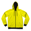 Neon Crushed Velvet Unisex Hoodie Pullover Hoodies Electro Threads XS Yellow