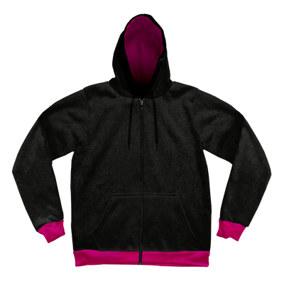 Neon Crushed Velvet Unisex Hoodie Pullover Hoodies Electro Threads XS Black and Pink