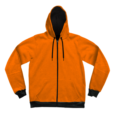 Neon Crushed Velvet Unisex Hoodie Pullover Hoodies Electro Threads XS Orange