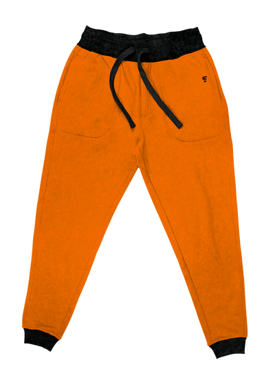 Neon Crushed Velvet Unisex Joggers Jogger Pant Electro Threads S Neon Orange