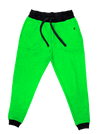 Neon Crushed Velvet Unisex Joggers Jogger Pant Electro Threads S Neon Green