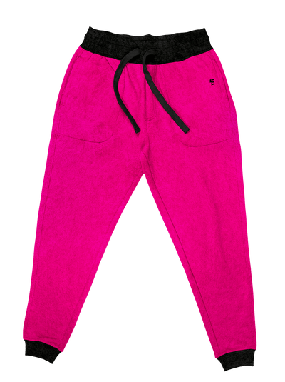 Neon Crushed Velvet Unisex Joggers Jogger Pant Electro Threads S Neon Pink