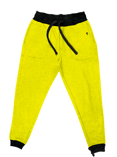 Neon Crushed Velvet Unisex Joggers Jogger Pant Electro Threads S Neon Yellow