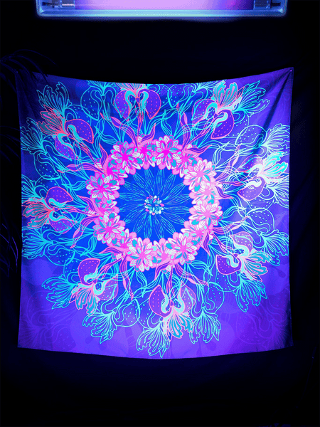 Neon Dream Catcher Tapestry Tapestry Electro Threads