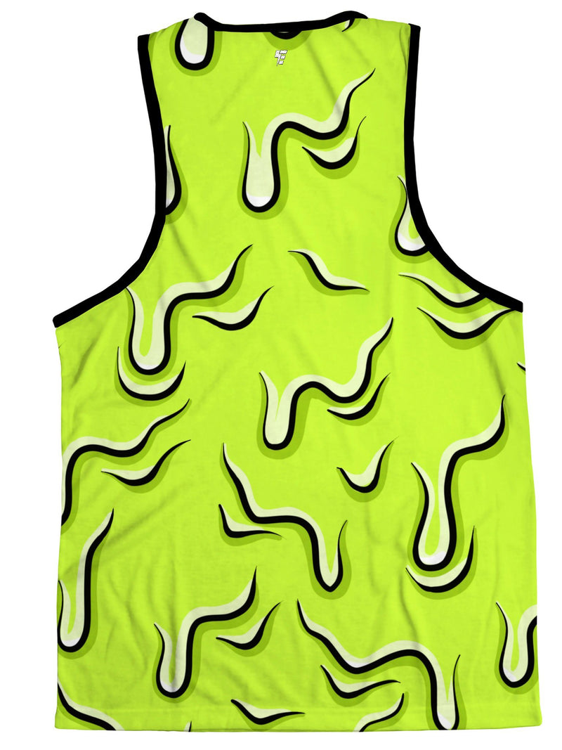 Neon Drippy (Green) Tank Tank Tops Electro Threads