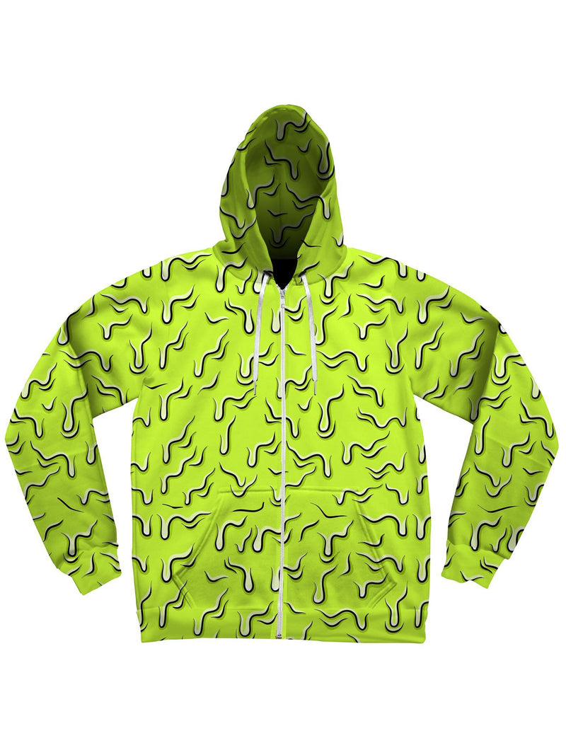 Neon Drippy (Green) Unisex Hoodie Pullover Hoodies Electro Threads
