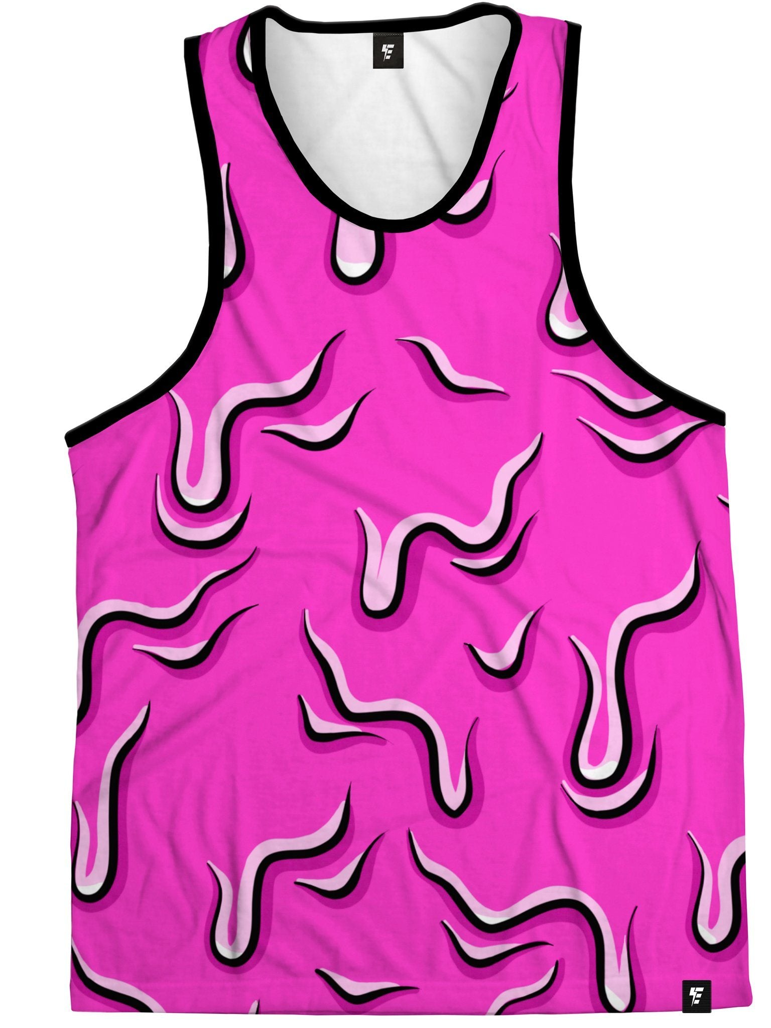 Neon Drippy (Pink) Tank Tank Tops Electro Threads