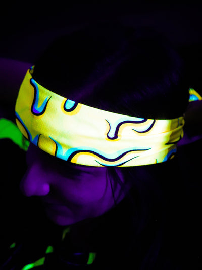 Neon Drippy Yellow Bandanas Bandana Electro Threads